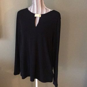 Worn once. Michael Kors Black top